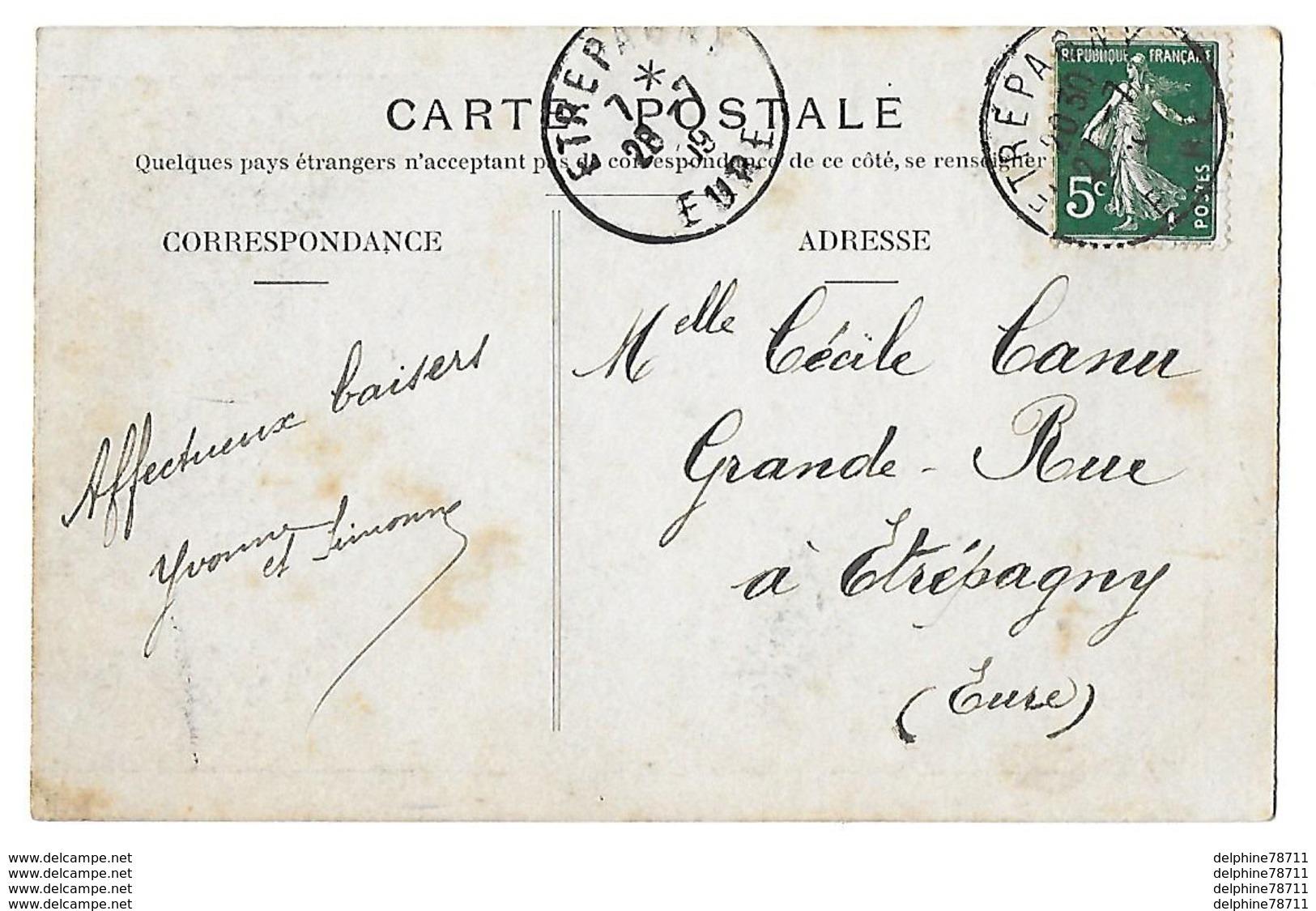 ETREPAGNY  Fête Du 21 Juin 1909  Souvenir De L'Ascension Du Ballon  (recto-verso) - Other Municipalities