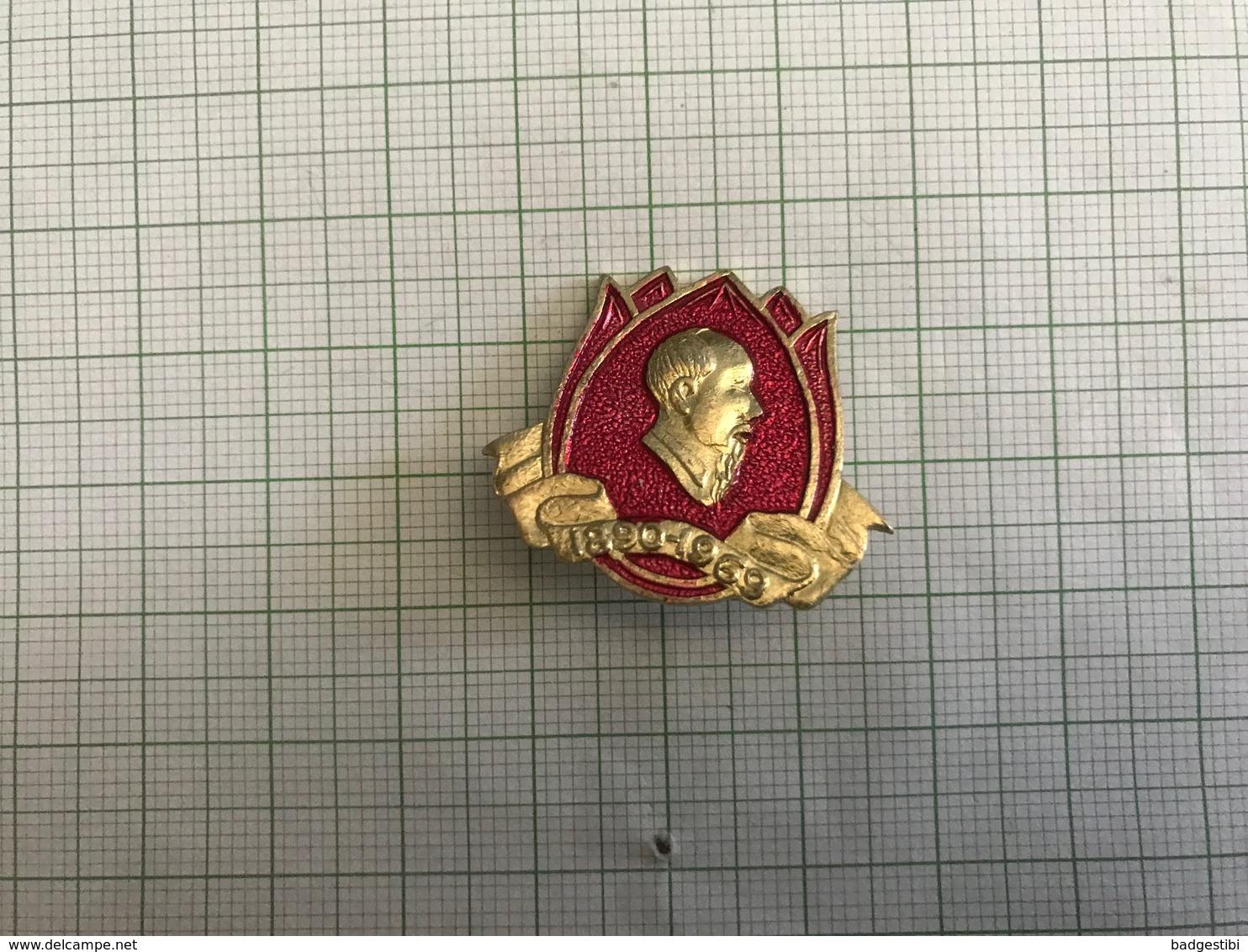 Ho Chi Minh Vietnam 1890-1969 Pin Badge Anstecknadel Abzeichen 0005 - Celebrities