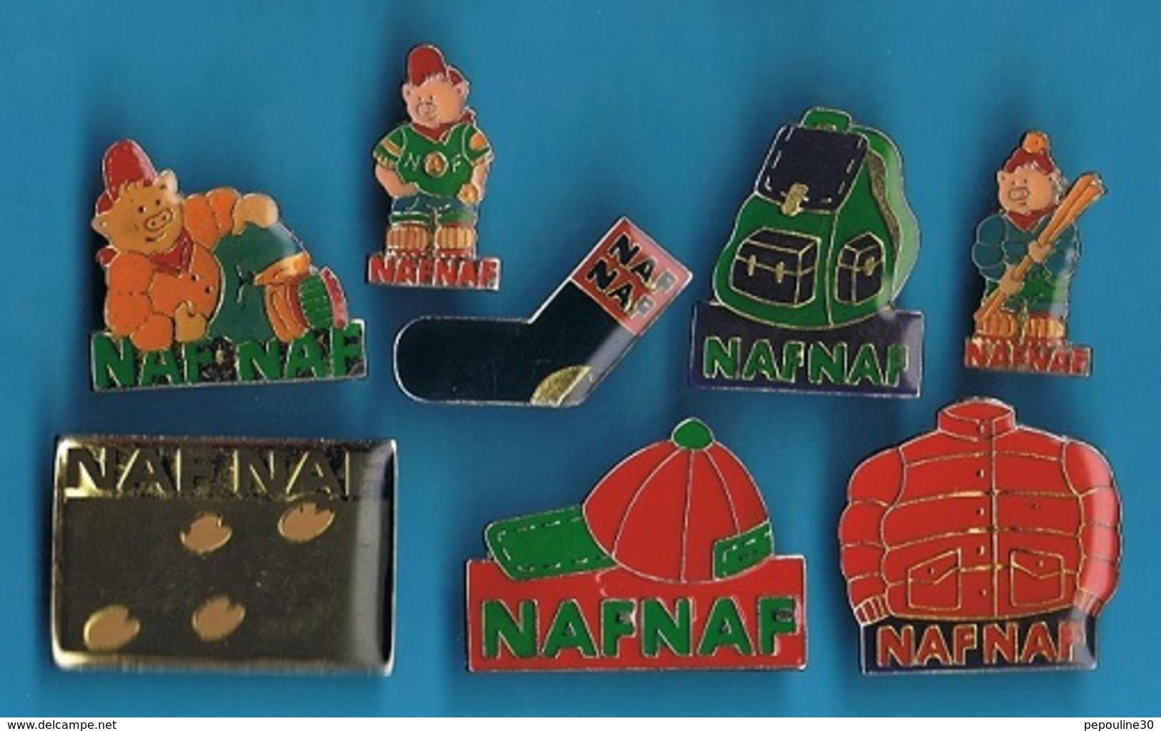 8 PIN'S //  ** LOGOS / NAFNAF ** - Badges