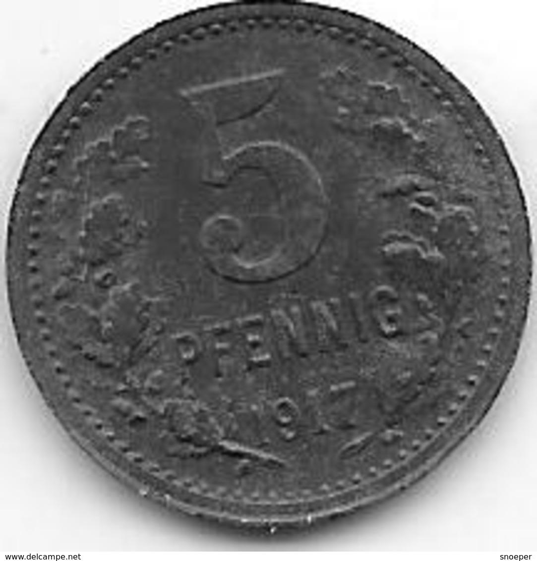 *notgeld Bonn 5 Pfennig 1917 Zn 1792.1 /F 52.1 - [ 2] 1871-1918 : Empire Allemand