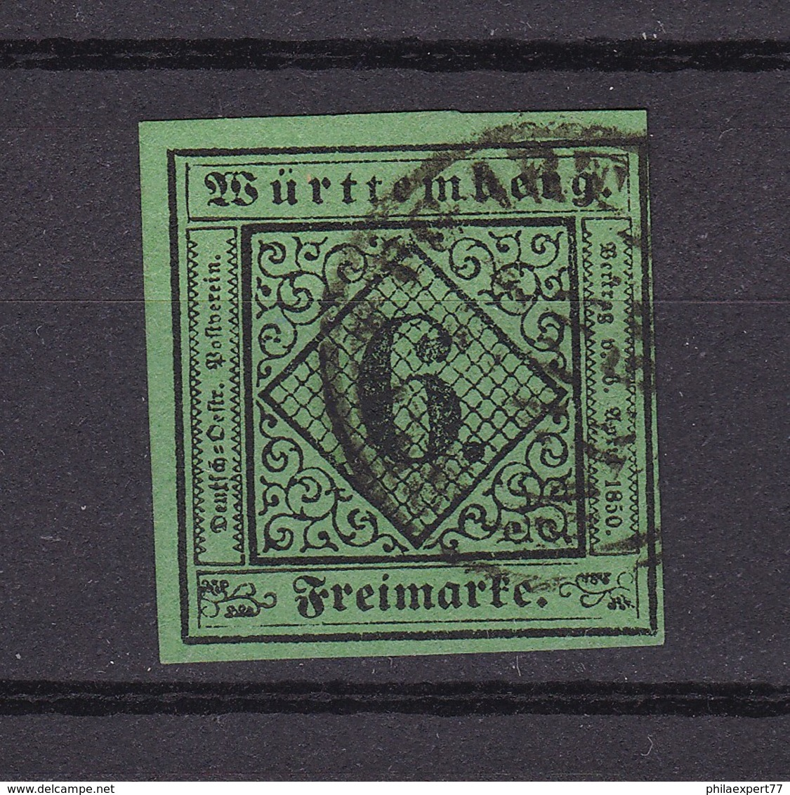 Wuerttemberg - 1851/52 - Michel Nr. 3 - 40 Euro - Wuerttemberg