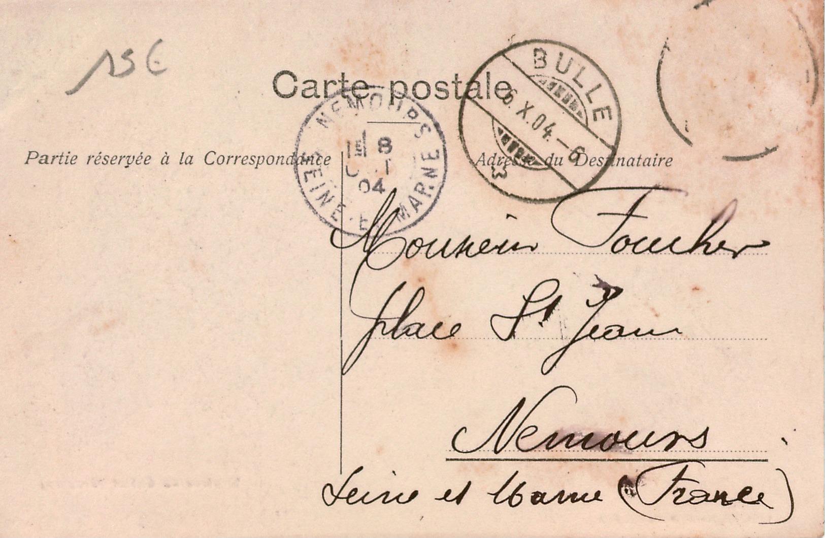 Cpa SUISSE / SCHWEITZ  FR  Région De La Gruyère Rentrée Au Châlet , Troupeau De Bovins Et Gardien , Envoi De Bulle 1904 - FR Freiburg