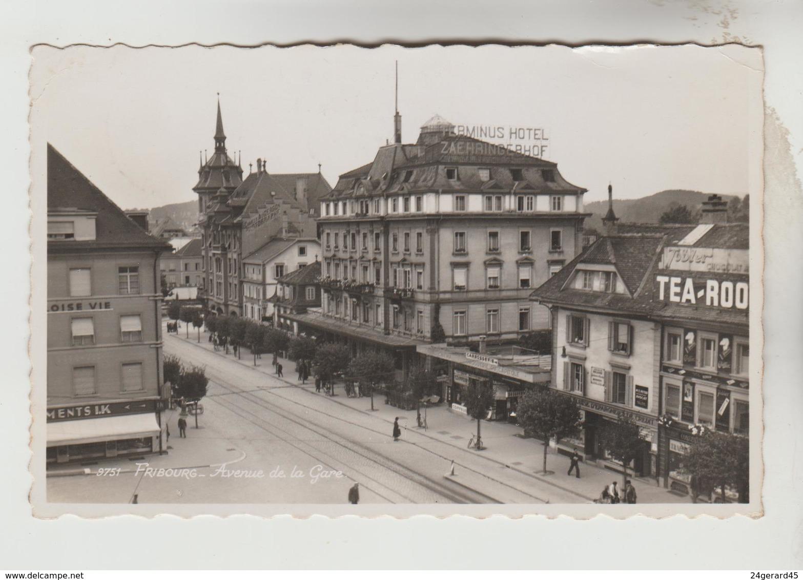 CPSM FRIBOURG (Suisse-Fribourg) - Avenue De La Gare - FR Fribourg