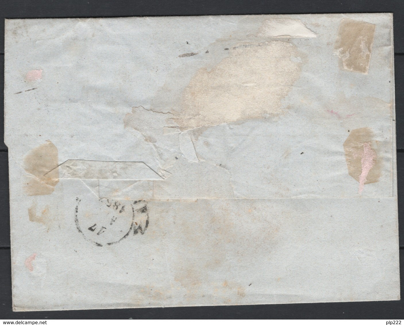 Toscana 1851 1cr+4cr Su Lettera Da Montalcino Ad Arezzo 15/4/57 Sass.4+6 O/Used VF/F - Tuscany