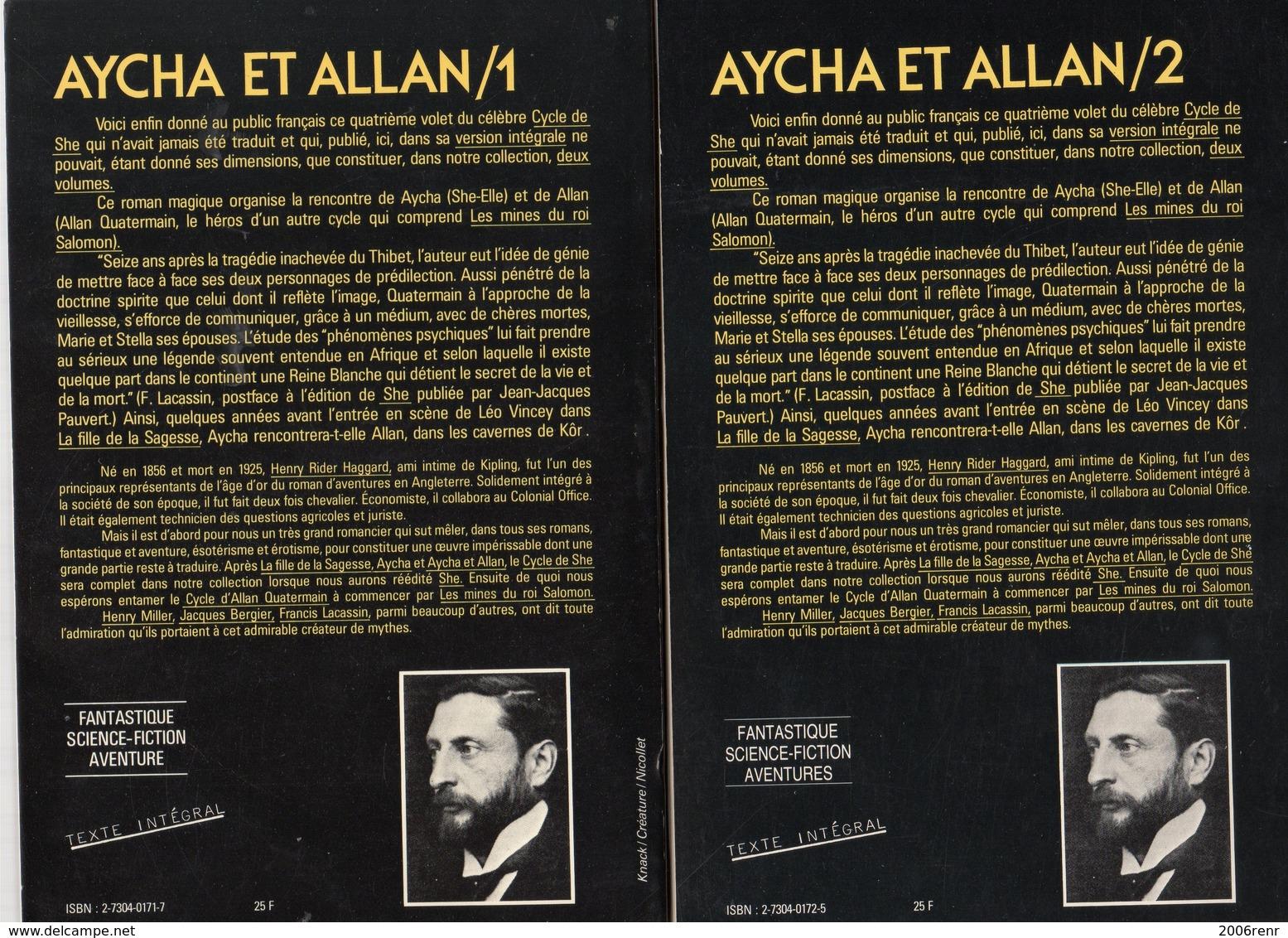 AYCHA ET ALLAN De Rider HAGGARD Editions NEO 1982. Tirage Limité VOIR SCANS - Fantasy
