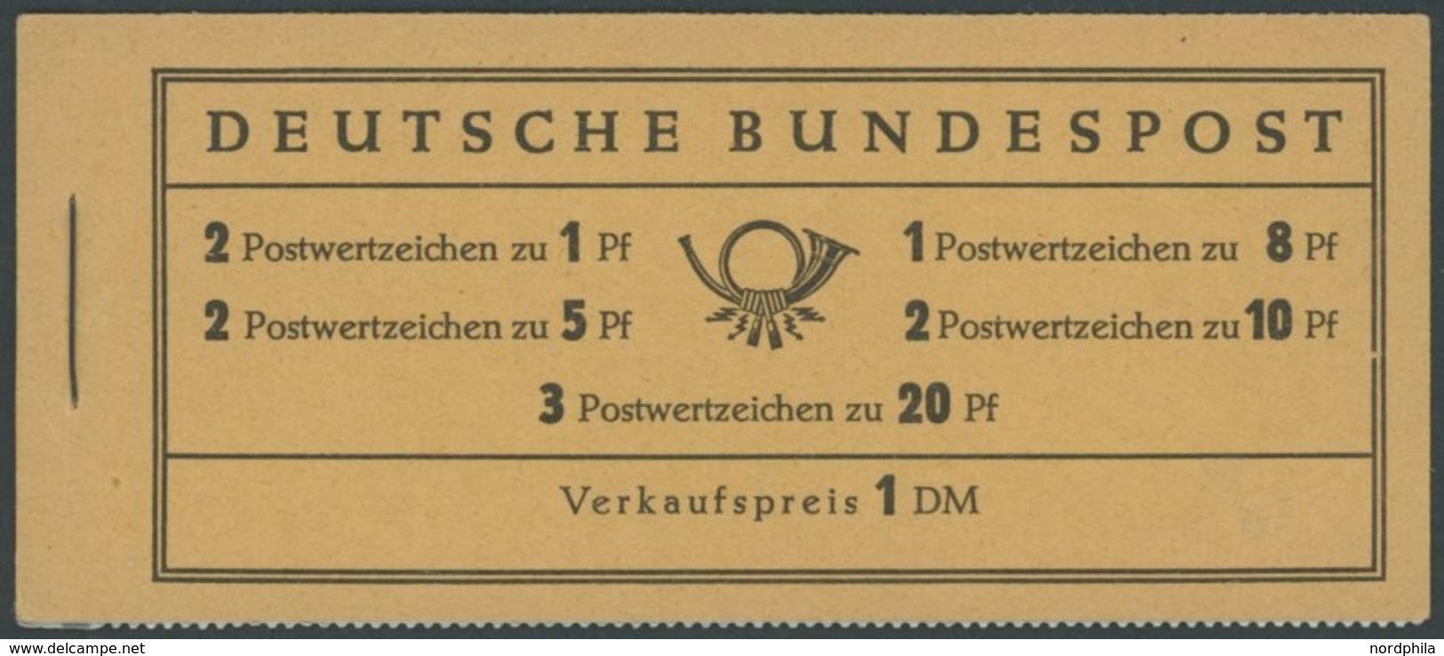 MARKENHEFTCHEN MH 4YII RLV III **, 1960, Markenheftchen Heuss Lieg. Wz., Nachauflage, Randleistenvariante III, Postfrisc - [7] Federal Republic