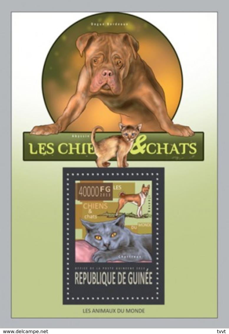 Guinea, 2013. [gu13426] Cats And Dogs (s\s+block) - Hauskatzen