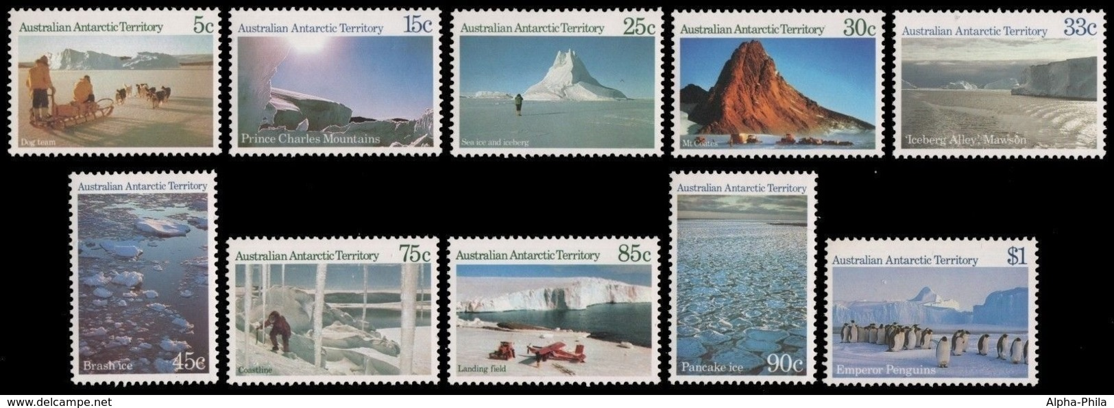 AAT / Austral. Antarktis 1973 - Mi-Nr. 63-72 ** - MNH - Natur-Landschaften - Australian Antarctic Territory (AAT)