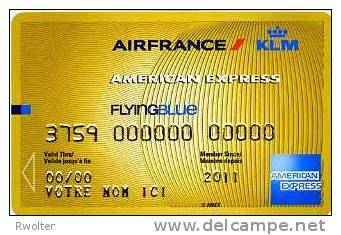 @+ Carte Factice Air France / KLM American Express - 2011 - Avions