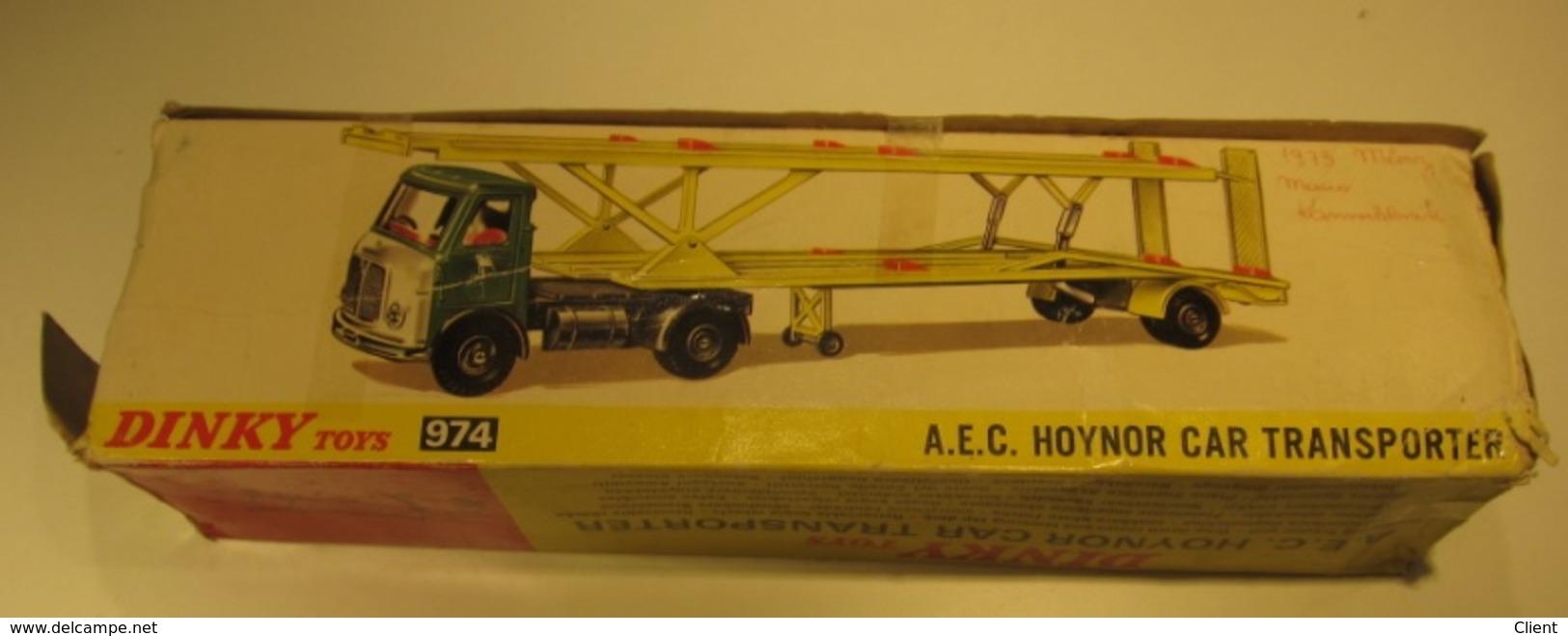 DINKY TOYS 974 - A.E.C HOYNOR CAR TRANSPORTER - - Voitures, Camions, Bus