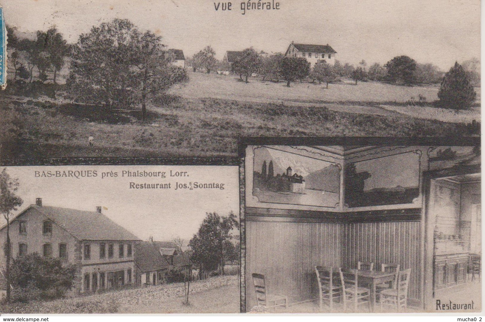 57 - BAS BARQUES PRES DE PHALSBOURG - 3 VUES - RESTAURANT SONNTAG - Other Municipalities
