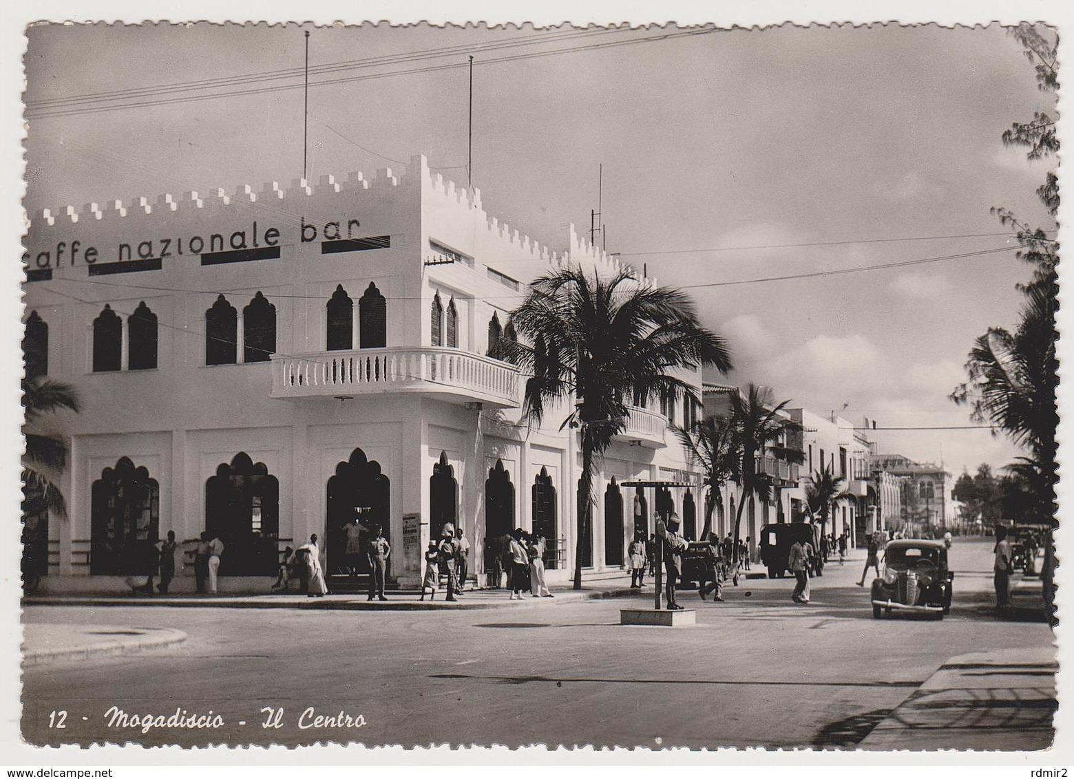1801/ MOGADISCIO, Somalia Italiana. Il Centro (Caffè Nazionale). Viaggiata In Italia (1951). Circulée En Italie (1951). - Somalia