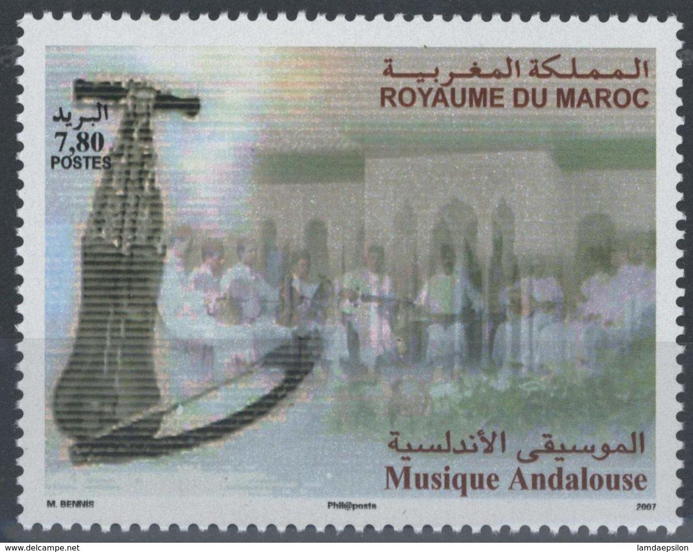 MOROCCO LA MUSIQUE ANDALOUSE 2007 - Morocco (1956-...)