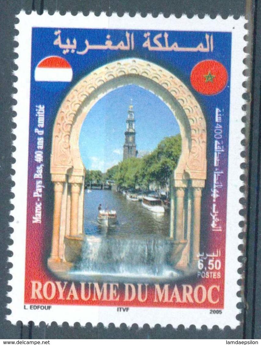 MOROCCO AMITIE MAROC PAYS-BAS MONUMENTS 2005 - Morocco (1956-...)