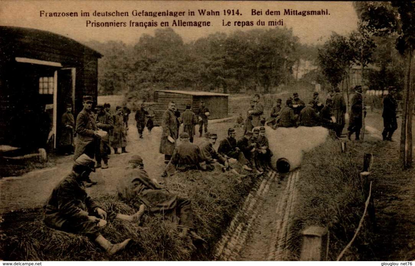 PRISONNIERS FRANCAIS EN ALLEMAGNE  ..CPA ANIMEE - Guerre 1914-18