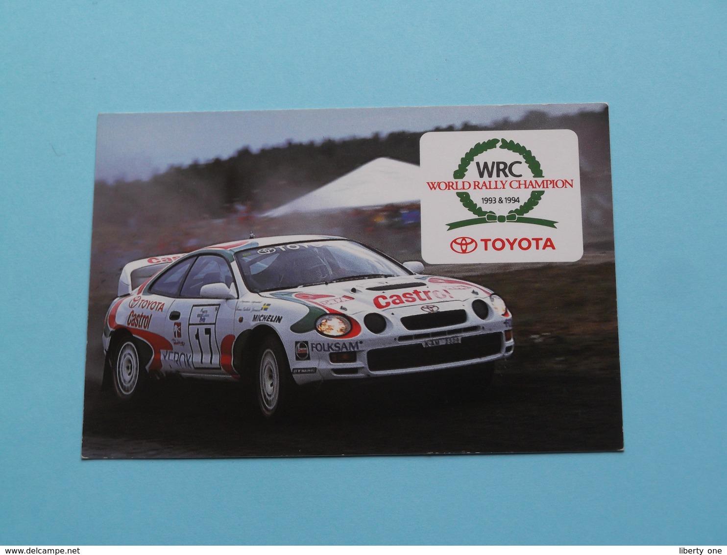 TOYOTA - 1995 ( WRC ) World Rally Champion 1993 & 1994 ( Zie Foto's ) ! - Calendarios