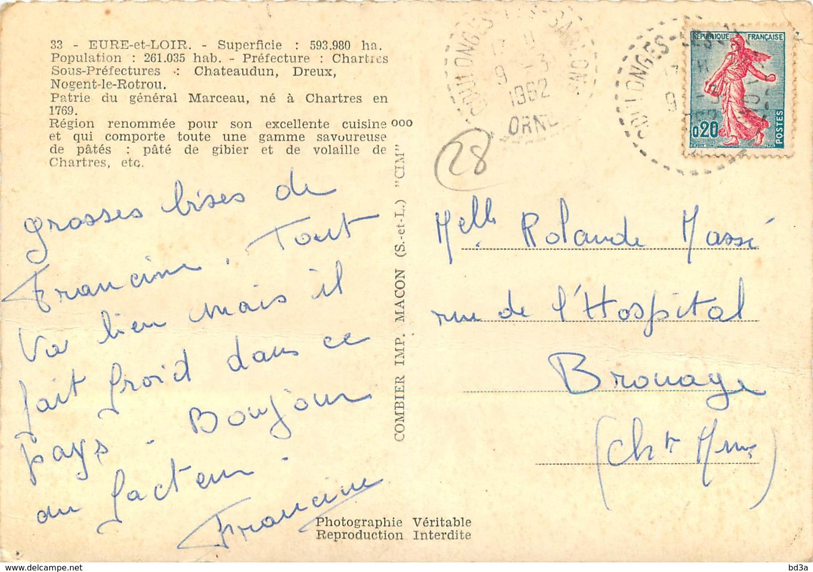 28 - DEPARTEMENT EURE ET LOIR - France