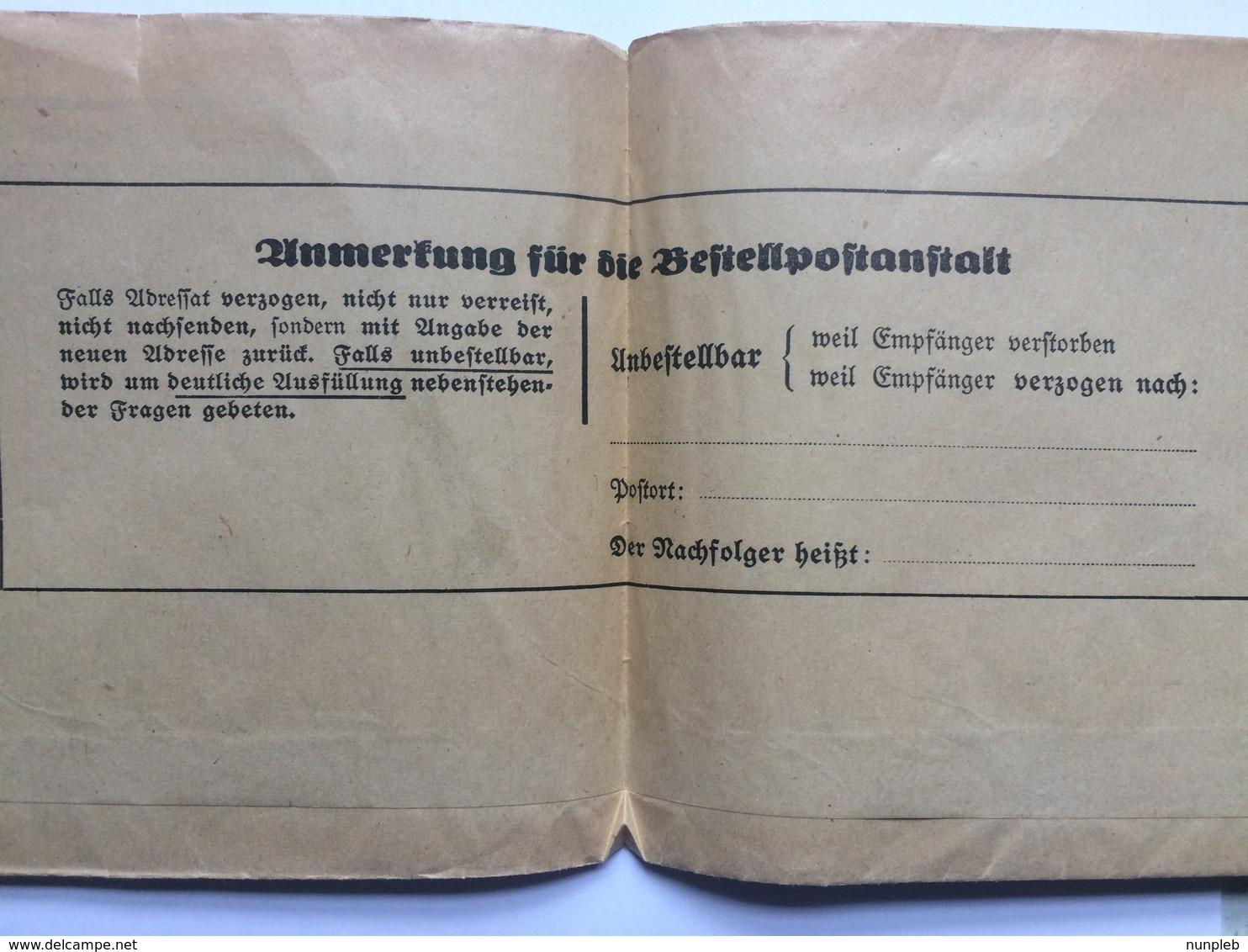 GERMANY 1939 Newspaper Wrapper Neudamm To Riga Latvia / Lettland - `zeitschrift Fur Schweinezucht` - Pig Breeding - Briefe U. Dokumente