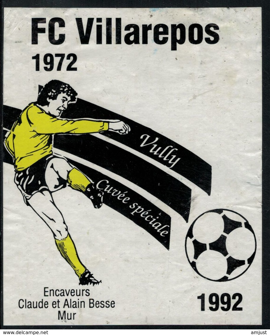 Etiquette De Vin //  Vully, Football, Cuvée Spéciale F.C. Villarepos - Football