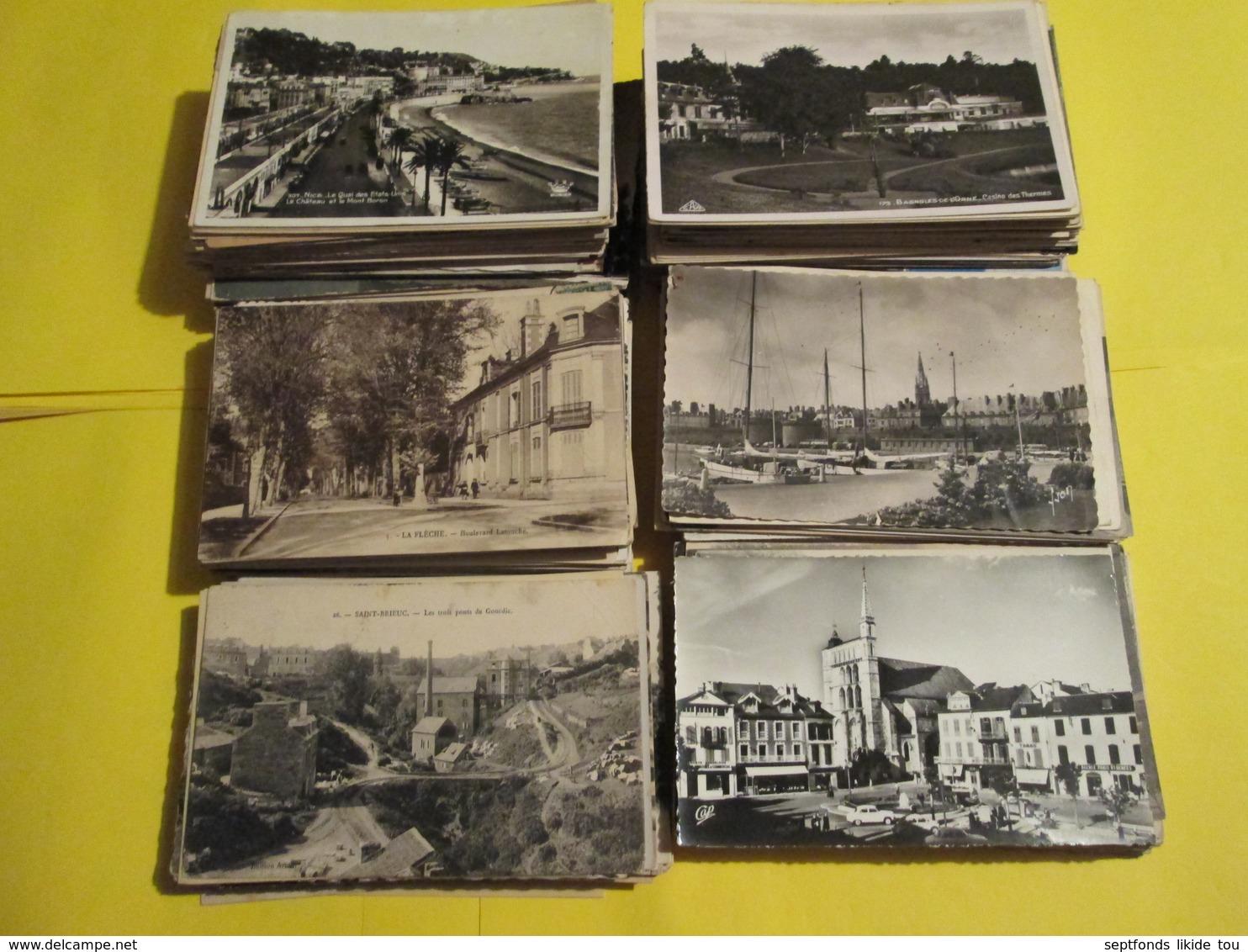 Départ 1 Centime  La CPA ..   Minimum 500 Cartes  Lot N° 8 (arrêt Complet De L'activité) - 500 Postcards Min.