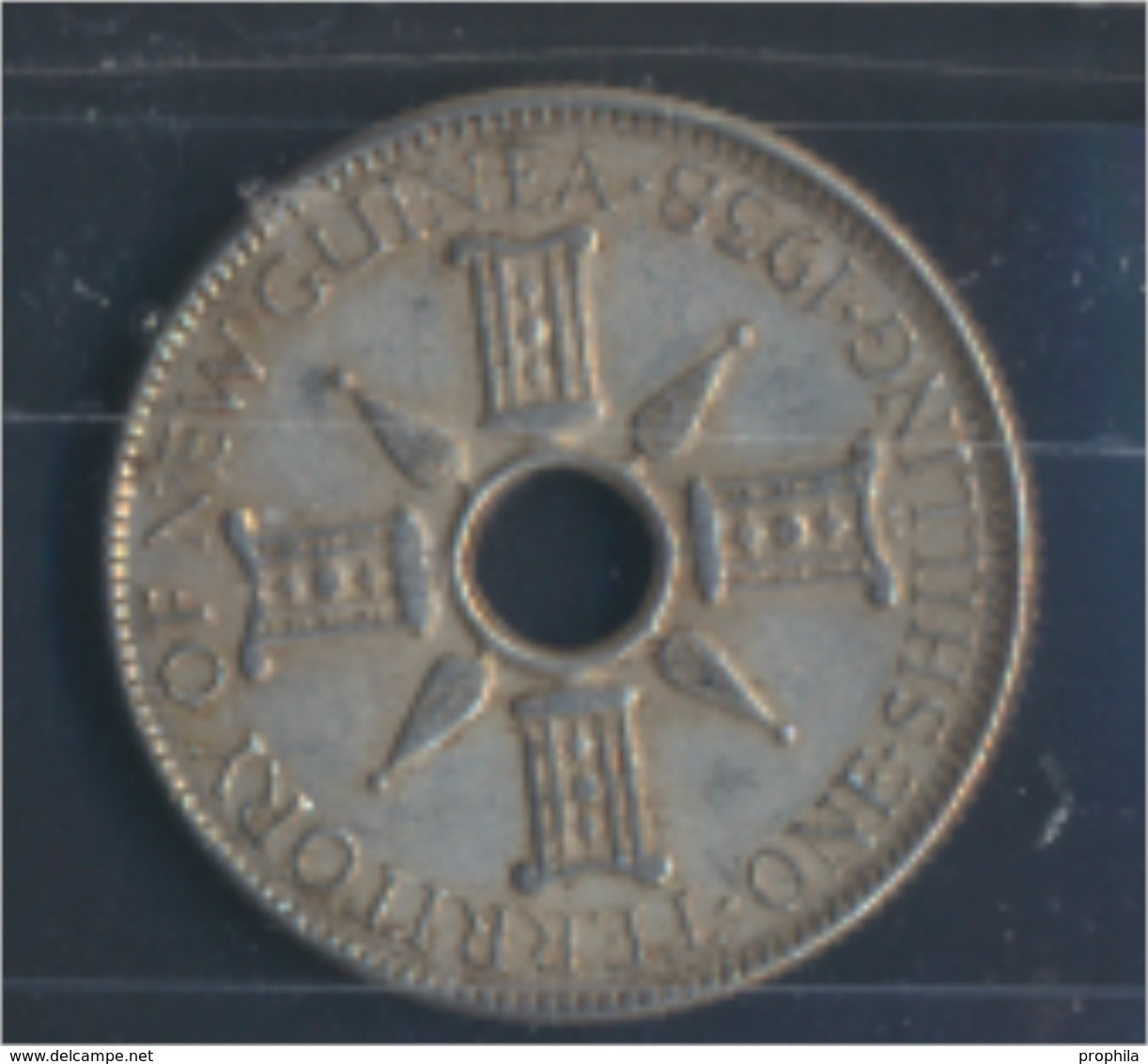Neuguinea KM-Nr. : 8 1938 Vorzüglich Silber 1938 1 Shilling Zepter (8977157 - Papouasie-Nouvelle-Guinée