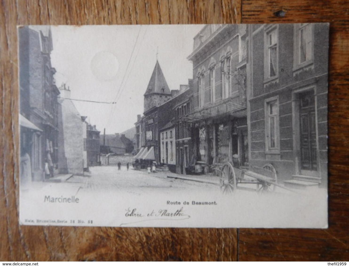 Marcinelle 1904 Route De Beaumont - Charleroi