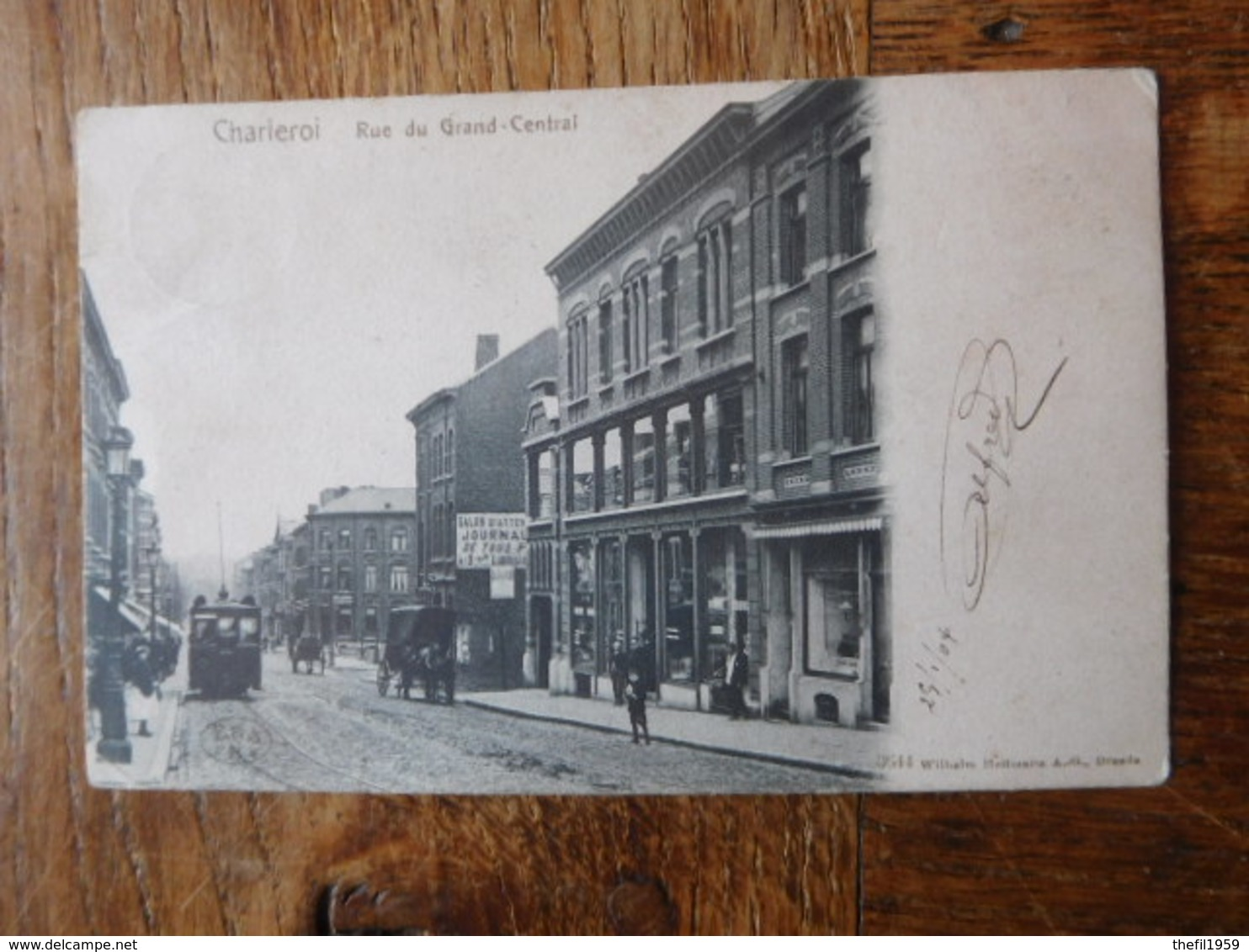 Charleroi 1904 Rue Du Grand Central / Tram - Charleroi