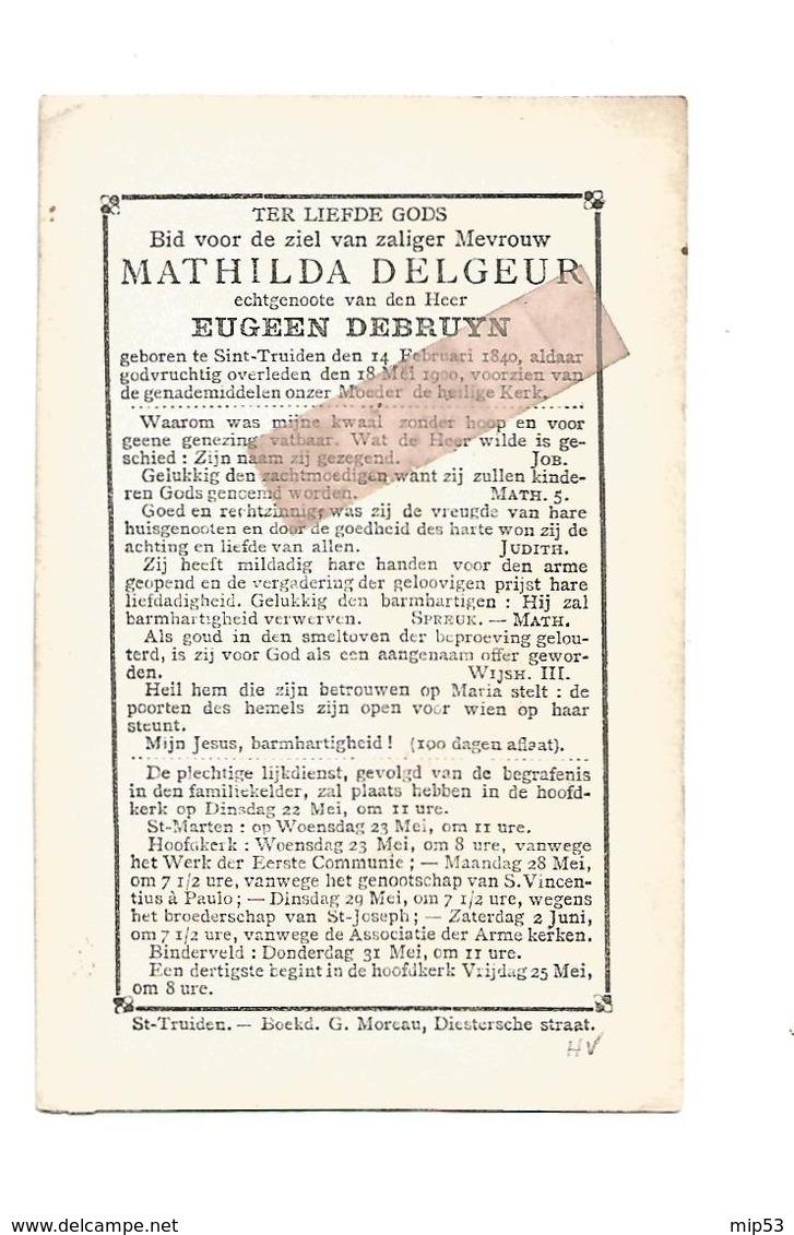 D 839. MATHILDA DELGEUR Echtg. E. Debruyn - °SINT-TRUIDEN 1840 En Aldaar + 1900 - Imágenes Religiosas