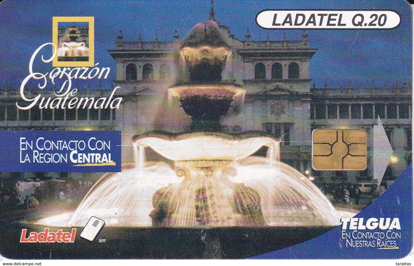 TARJETA DE GUATEMALA DEL CORAZON DE GUATEMALA (LADATEL) - Guatemala