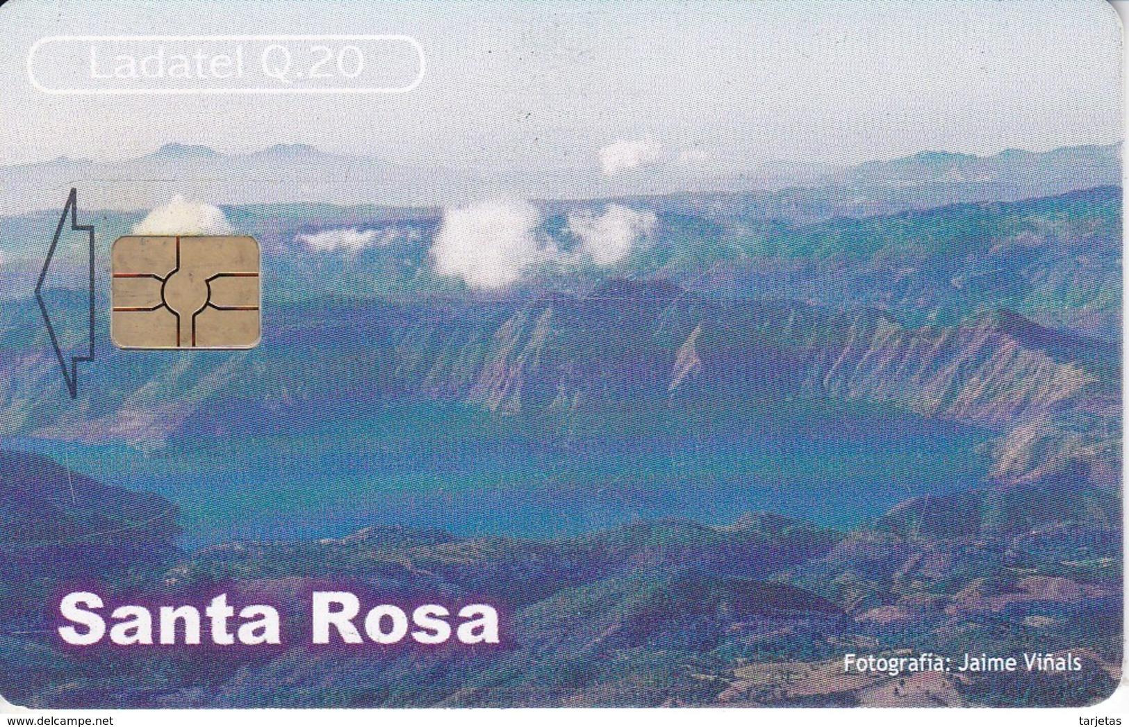 TARJETA DE GUATEMALA DE SANTA ROSA - LAGUNA DE AYARZA  (LADATEL-TELGUA) - Guatemala