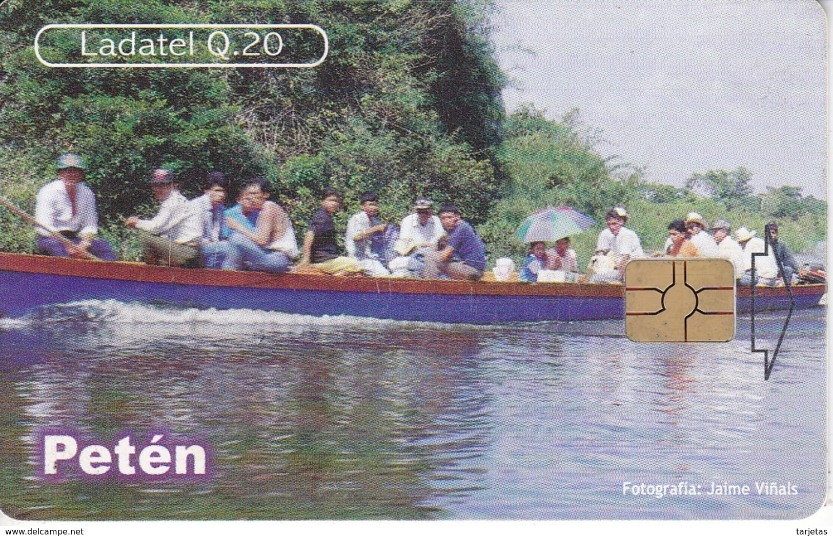 TARJETA DE GUATEMALA DE PETEN - RIO LA PASION  (LADATEL-TELGUA) - Guatemala
