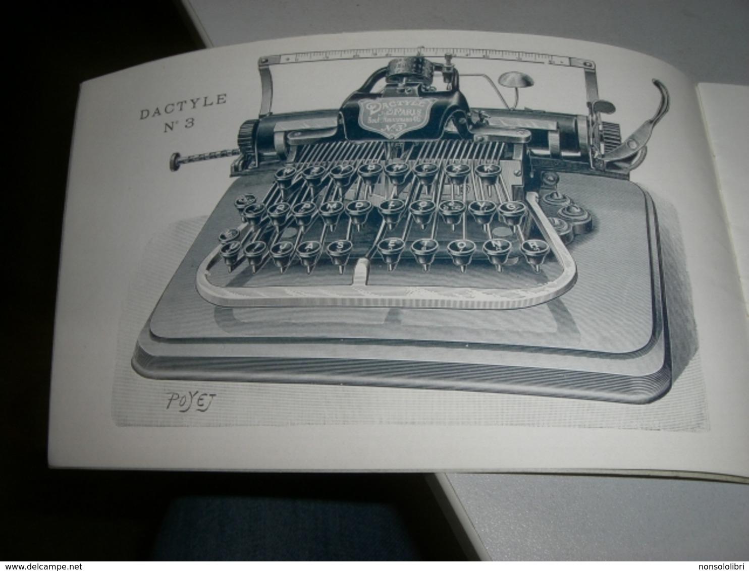 LIBRETTO PUBBLICITARIO MACCHINE DA SCRIVERE DACTYLE - Pubblicitari