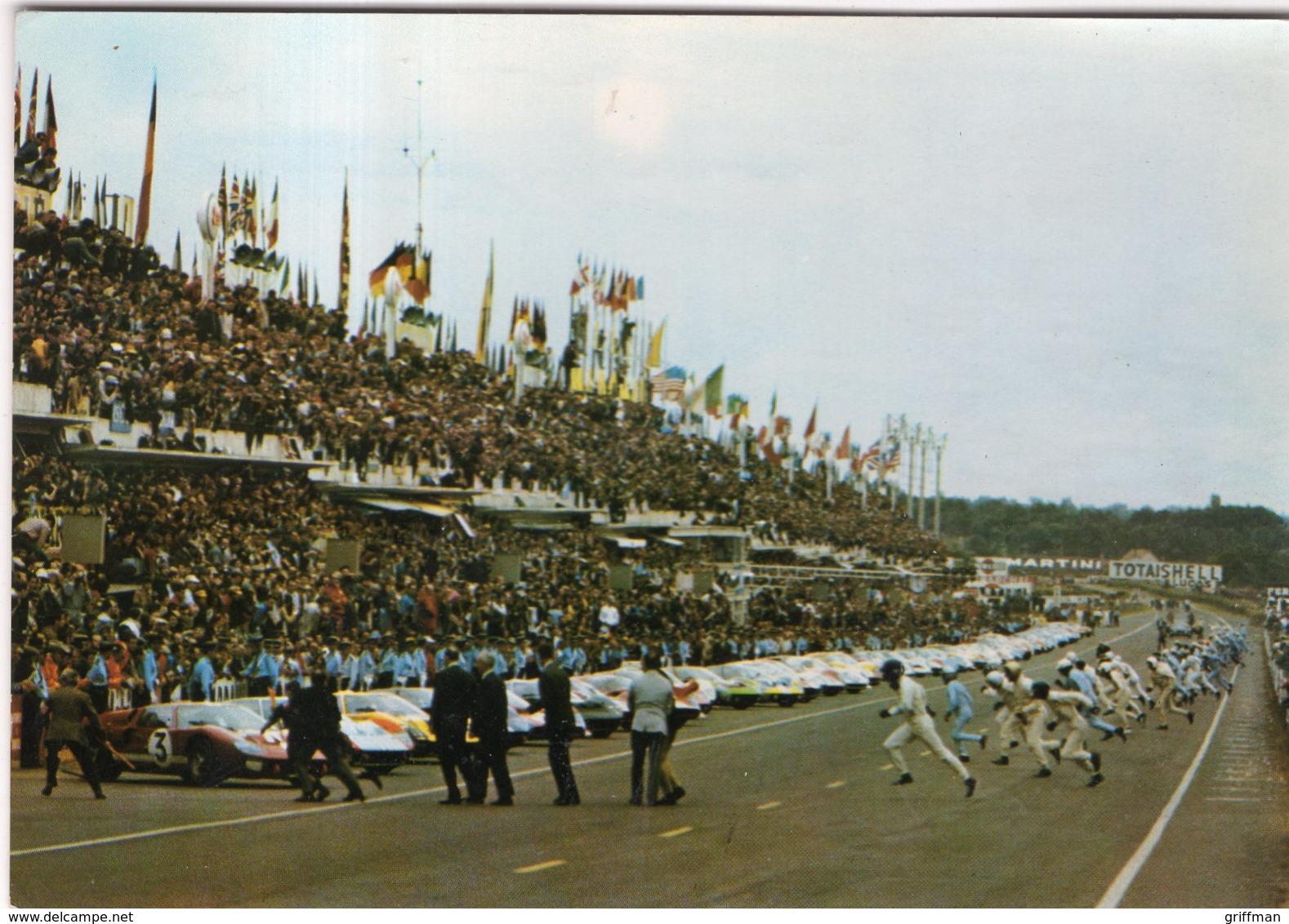 LE MANS LES 24 HEURES DEPART DES PILOTES 28 ET 29 SEPTEMBRE 1968 CPSM GM TBE - Le Mans