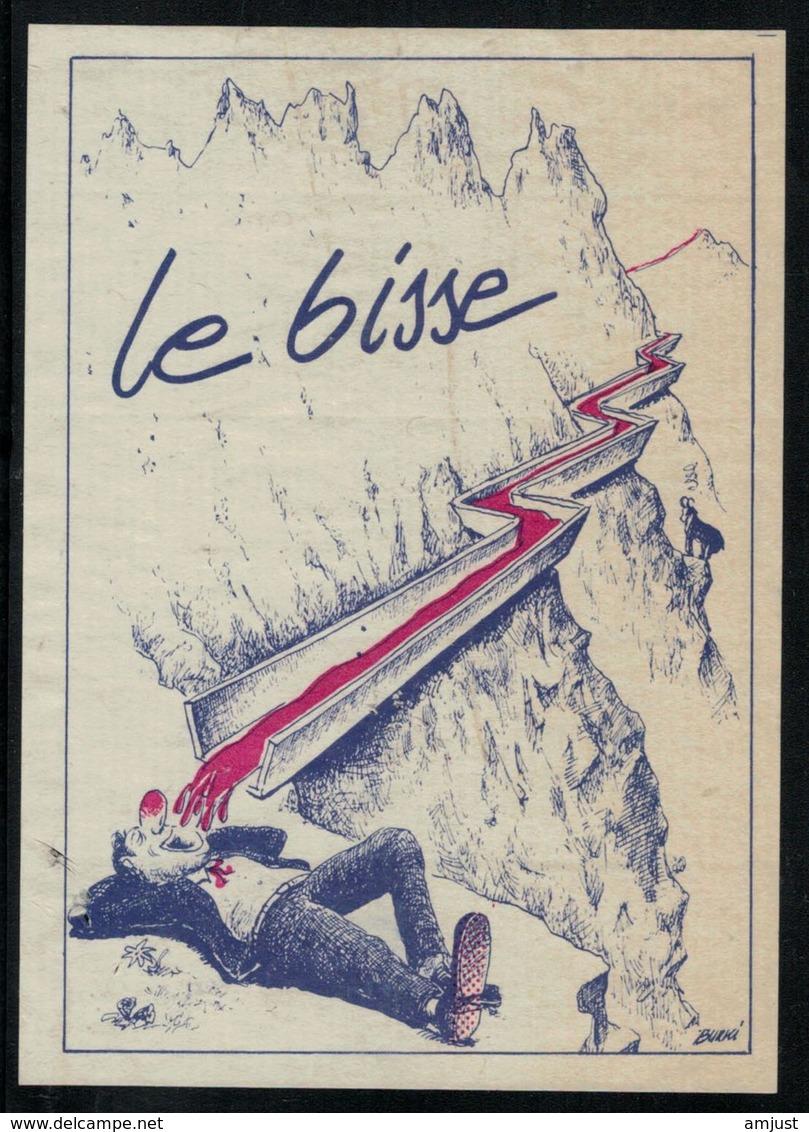 Etiquette De Vin // Le Bisse - Montagnes