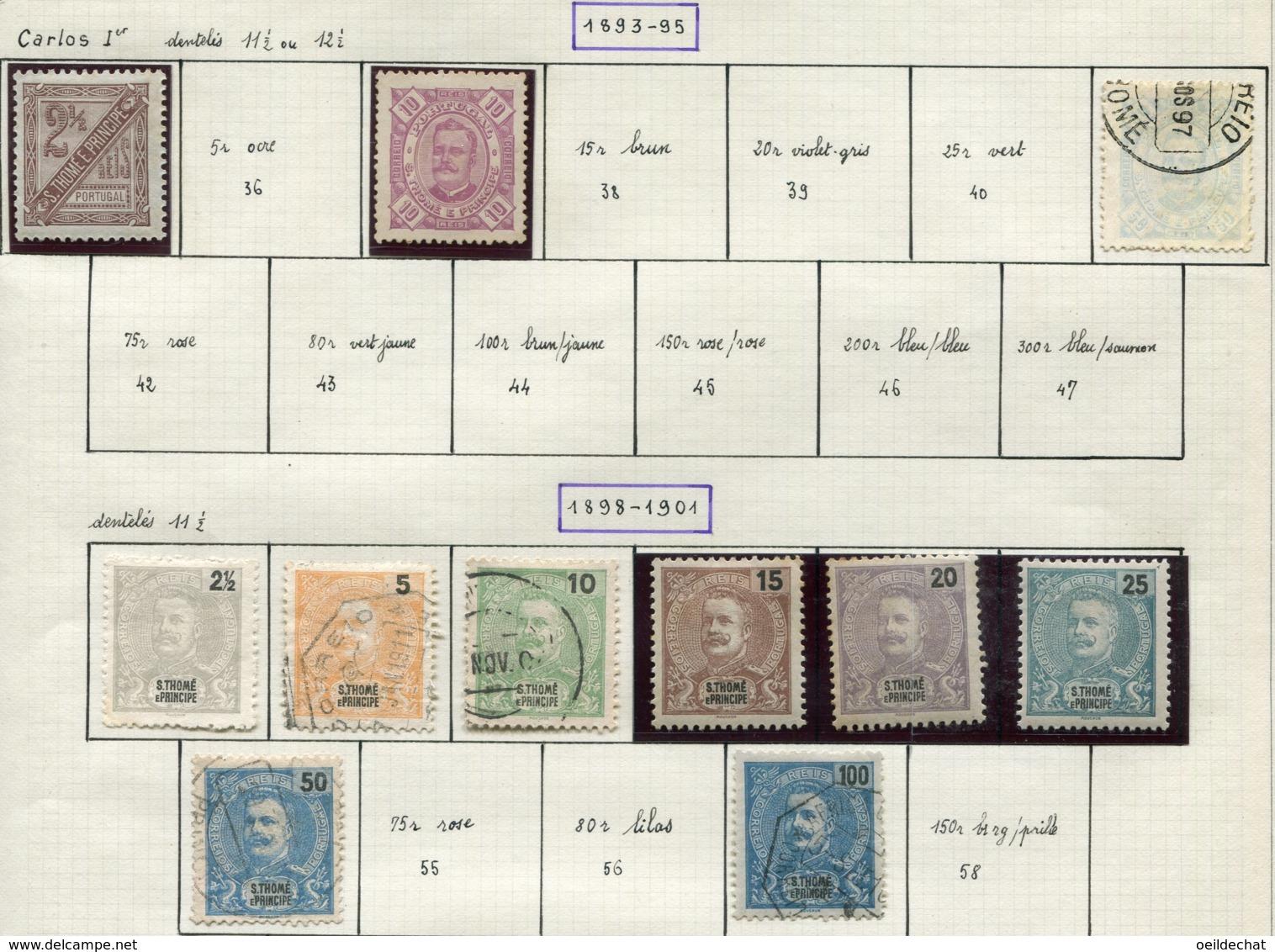 13599 St.Thomas & Prince Collection Vendue Par Page N°35, 37, 41, 48/54, 57 */ (*)/ °  1893-98  B/TB - St. Thomas & Prince