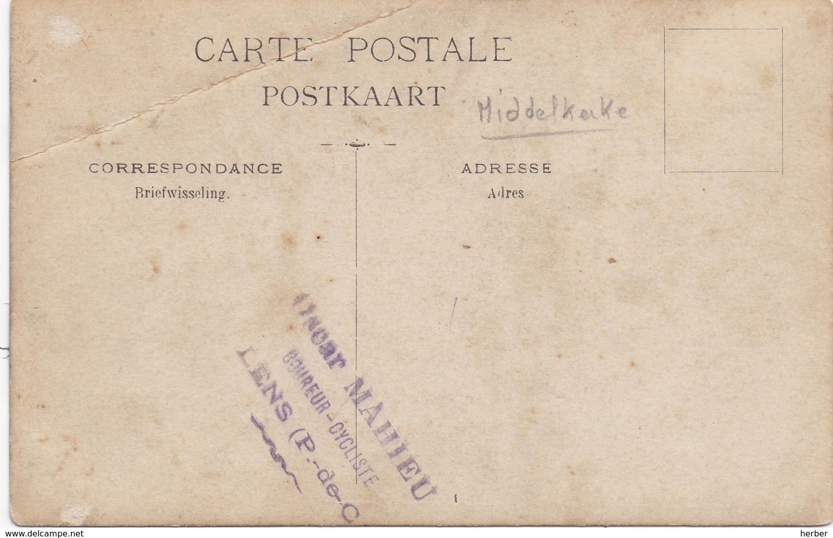 Carte Photo - Foto - MIDDELKERKE - 1906 - School Klas Klassefoto - Oscar Mahieu Coureur Cycliste Lens - Middelkerke