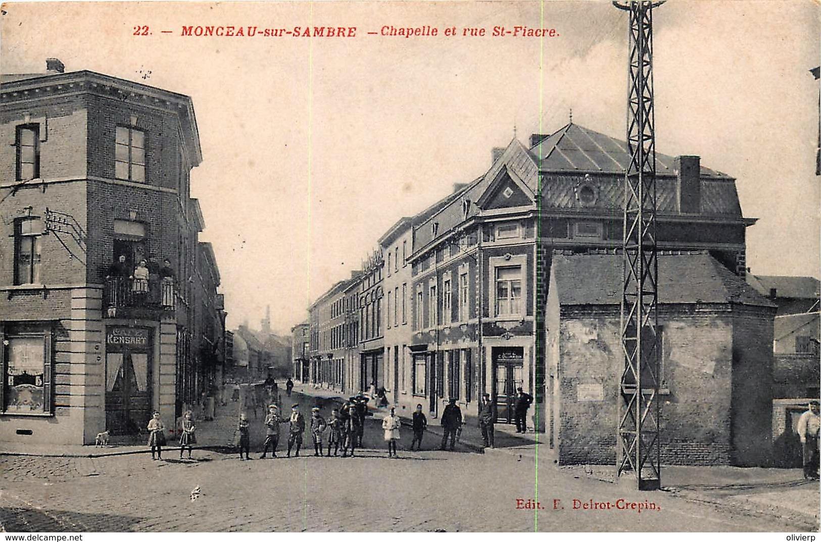 Belgique - Charleroi - Monceau-sur-Sambre - Chapelle Et Rue St.-Pierre - Charleroi