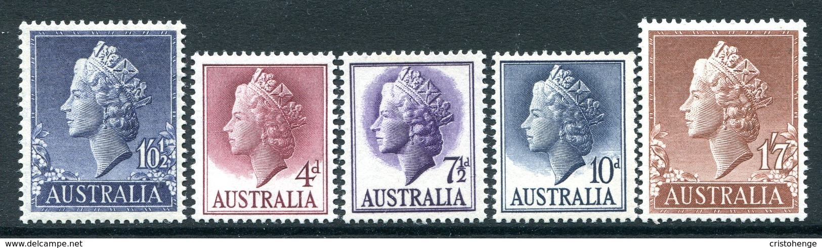 Australia 1955-57 QEII Definitives Set MNH (SG 282-282d) - 1952-65 Elizabeth II : Pre-Decimals