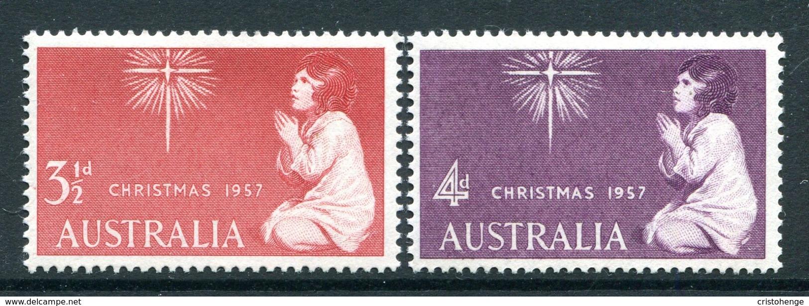 Australia 1957 Christmas Set LHM (SG 298-299) - 1952-65 Elizabeth II : Pre-Decimals