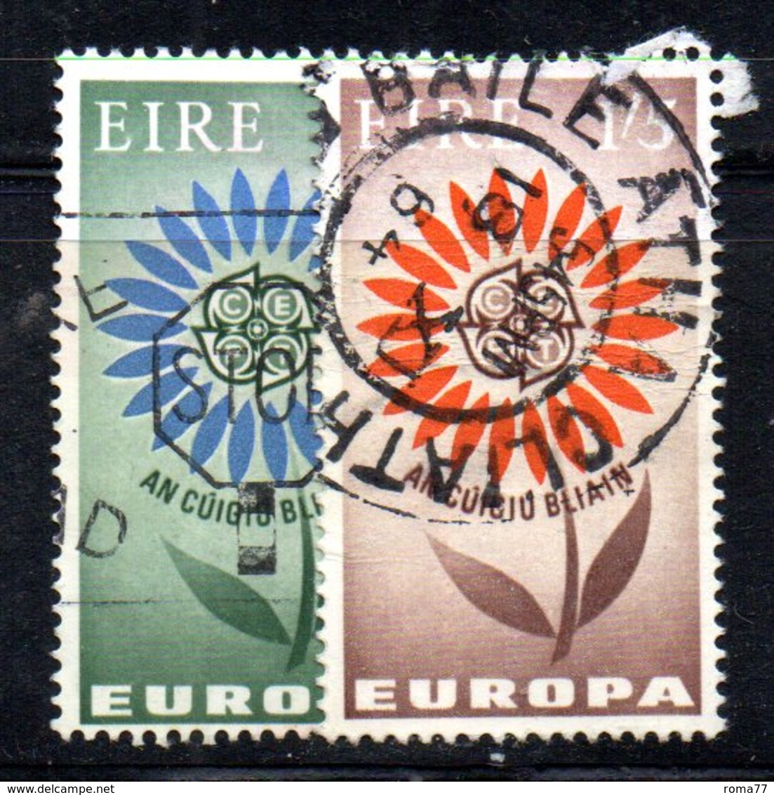 APR1647 - IRLANDA 1964 , Unificato N. 167/168  Usata  (2380A) Europa Cept - Usati