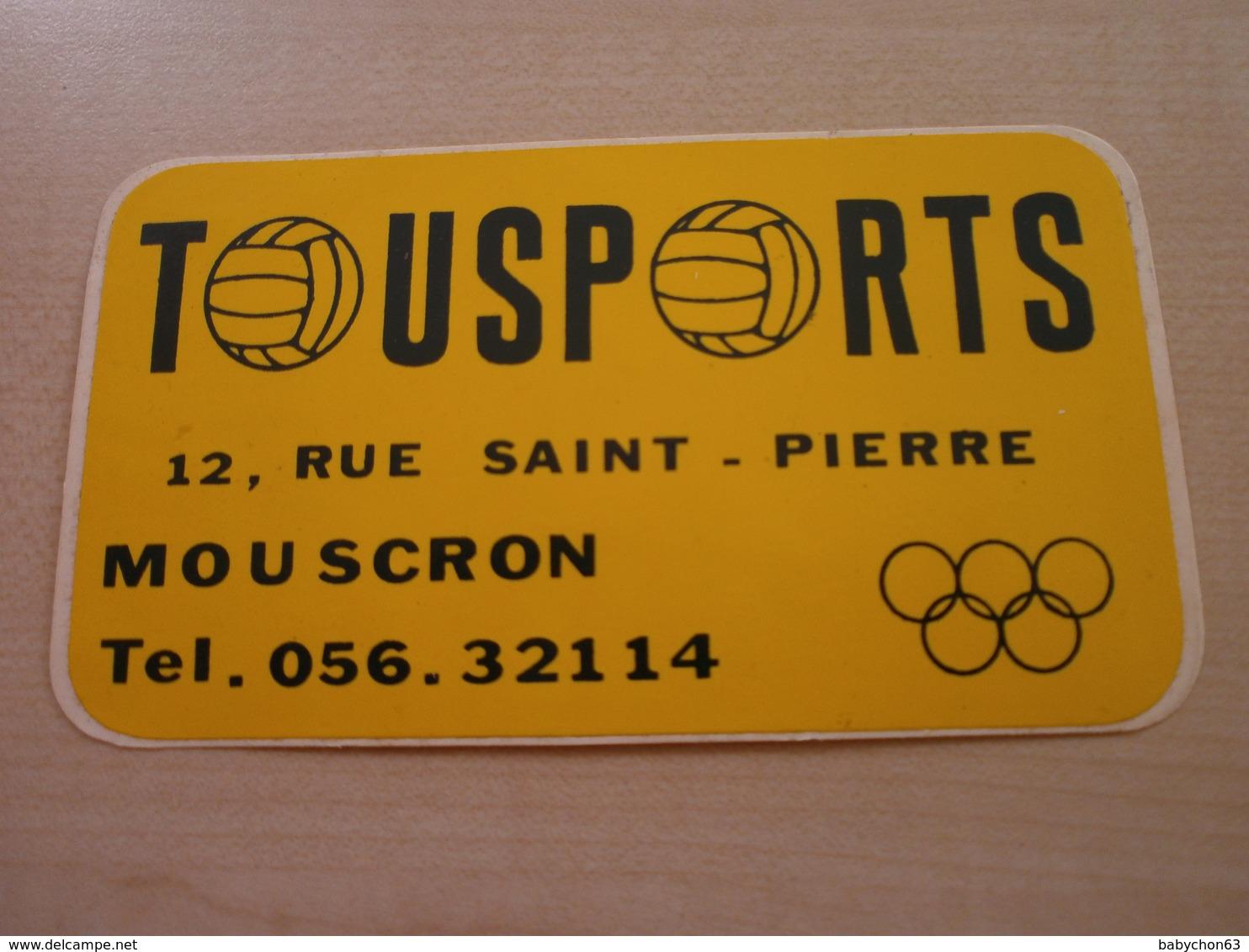 Autocollant Ancien TOUSPORTS   MOUSCRON - Stickers