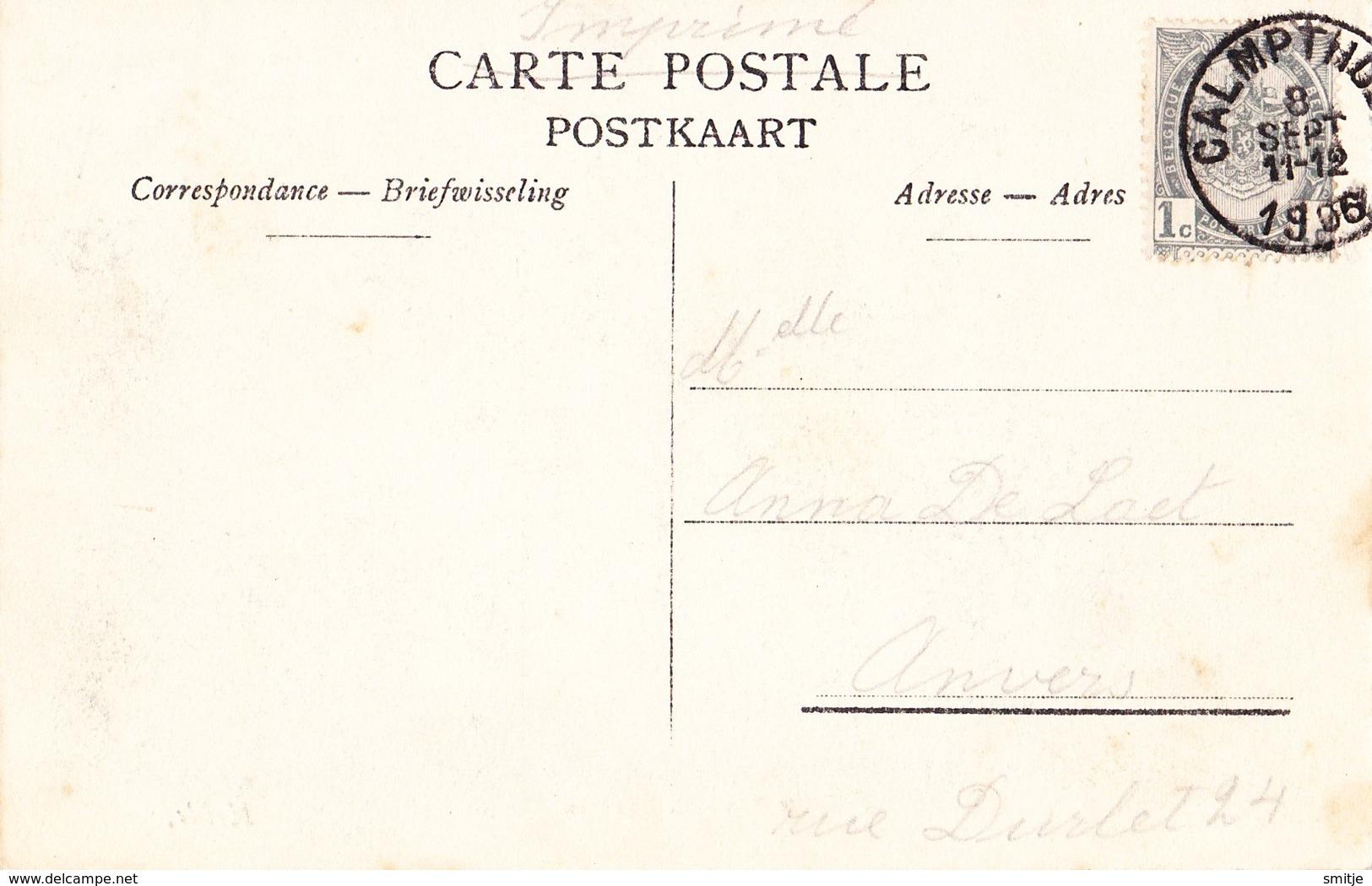 KALMTHOUT HEIDE 1906 FRANSCH BAANTJE ESTAMINET DEN NIEUWEN BUITEN MET MOOIE ANIMATIE - HOELEN KAPELLEN 1953 - Kalmthout