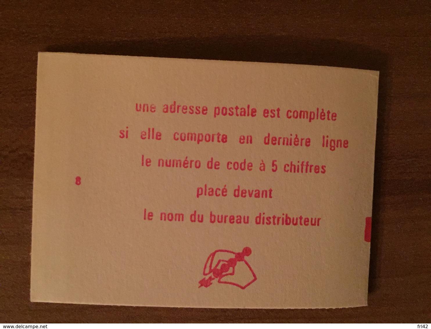 Carnet 1664-C5 Type Marianne De Bequet - Fermé Conf 8 - Parfait état - Carnets