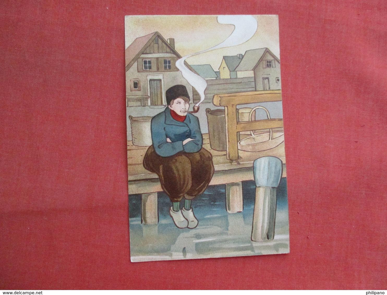 Dutch Man Smoking A Pipe      Ref  3462 - Europe