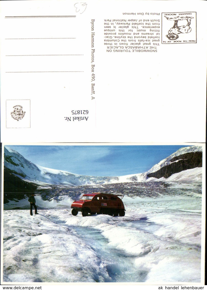 621875,Snowmobile Touring On The Athabasca Glacier Jasper National Park Schneemobil C - Ohne Zuordnung