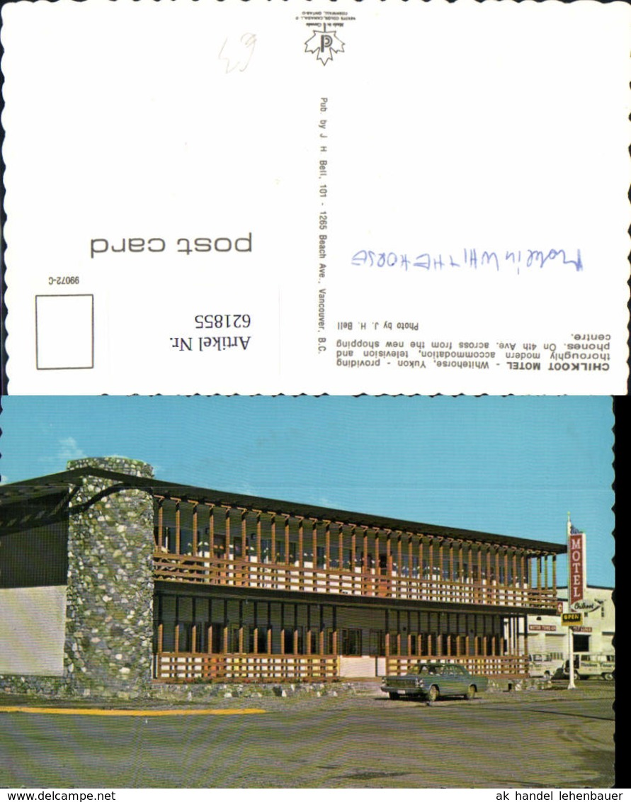 621855,Chilkoot Motel Whitehorse Yukon Canada - Canada