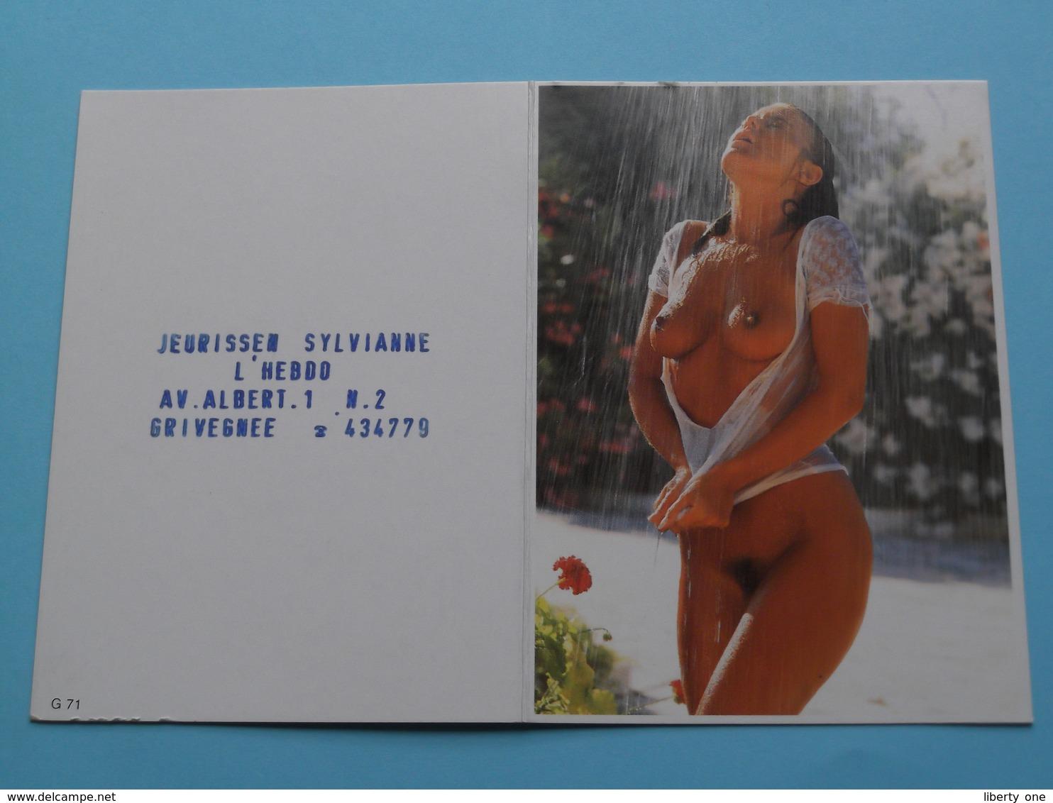 Jeurissen Sylvianne L'Hebdo Grivegnée () 1996 (Femme Nude / Naakt / Naked) ( Zie/voir Photo Svp ) ! - Calendarios
