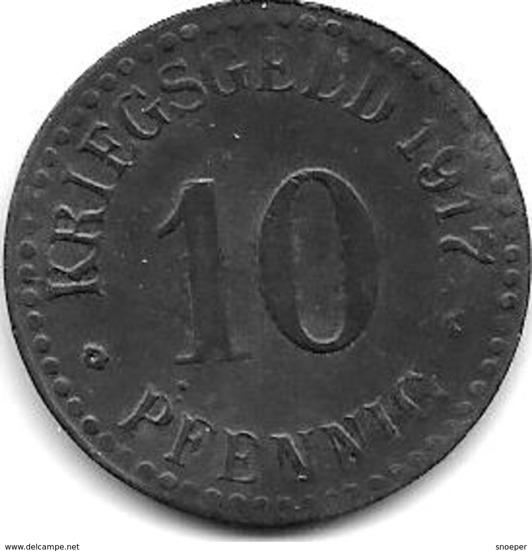 Notgeld Cassel 10 Pfennig 1917 Zn 2360.3 / F78.3 - Autres