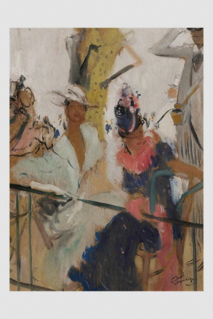 Jean-Gabriel Domergue Nude Sexy Pin-up Elegant Ladies At The Races. 41x33 - Fine Nudes (adults < 1960)