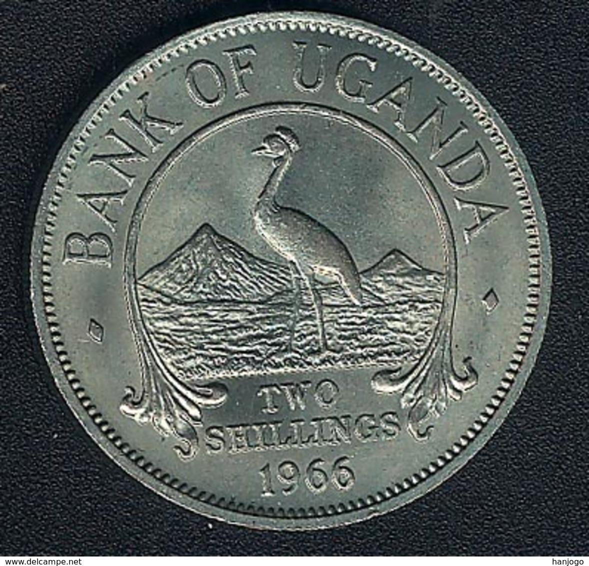 Uganda, 2 Shillings 1966, UNC - Uganda